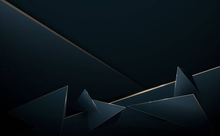Abstract 3D luxury polygon background. Vector illustration