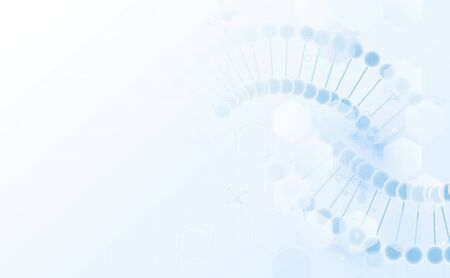 Abstract blue DNA double helix. Healthcare and science pattern medical innovation concept background