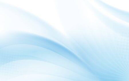 Ondulé bleu abstrait avec fond de lignes courbes légères floues