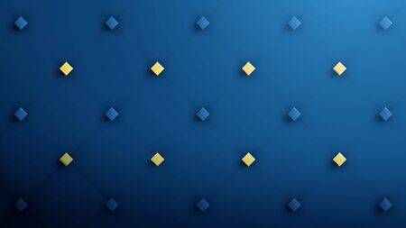 Abstract geometric pattern luxury dark blue with gold. Vector illustration. Leather texture