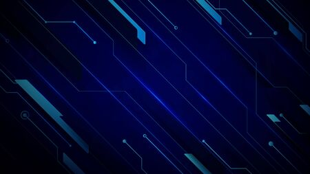 Abstract blue technology Hi-tech futuristic digital innovation background. vector illustration