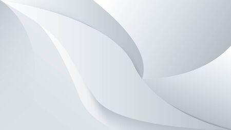 Abstract white background with smooth lines. 3d Vector illustration