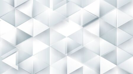 Abstract white polygonal triangle geometric 3d texture. Black and white Colorful gradient mosaic backdrop. Vector illustration