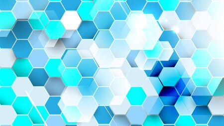 Abstract technology digital hi tech hexagons concept background. Space for your text 矢量图像