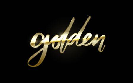 Design Elegant Golden Typography Design. Vector Illustration