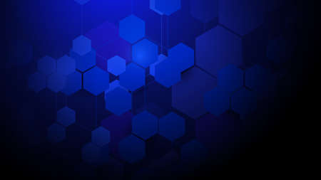 Abstract Hexagons Technology Futuristic Digital concept Background. Vector Illustration
