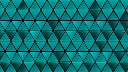 Green and blue geometric triangles abstract background. Mosaic template for your design Ilustração