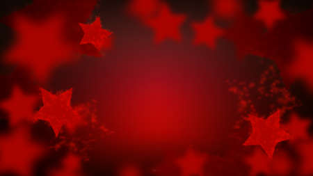 Abstract star sparkling bokeh in red colors. Merry christmas and New year background 向量圖像