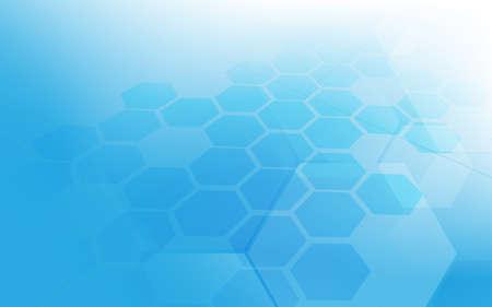 Abstract technology digital hi tech hexagons concept background. Vector illustration 向量圖像