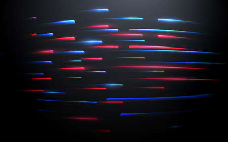 Abstract blue and red technology Hi-tech futuristic digital. High and Lines speed movement. Vector illustration 版權商用圖片 - 157735668