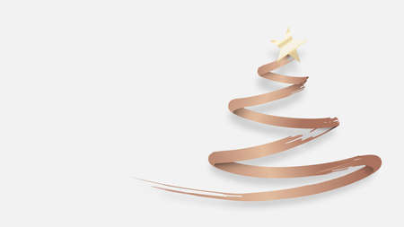 Abstract Christmas tree made from Gold brush. Vector illustration 版權商用圖片 - 157735679