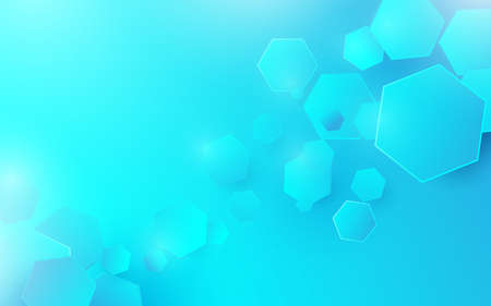 Abstract technology digital hi-tech hexagons concept background. Space for your design 向量圖像