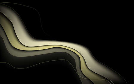 Abstract gold luxury wavy with Curved lines background. illustration Vector