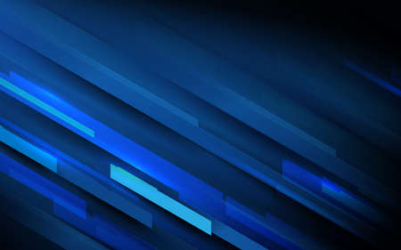 Abstract High-speed movement geometric shape on dark blue background with technology Hi-tech futuristic digital concept. Vector illustration