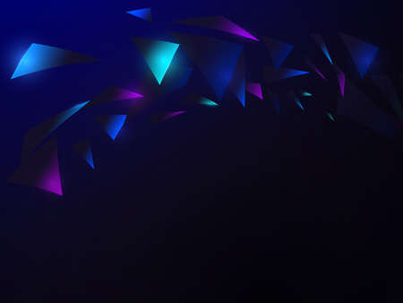 Abstract blue polygon technology futuristic and science concept. Vector Illustration