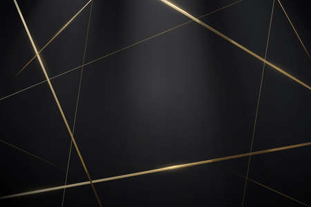 Abstract Black and gold lines with a luxury background. Vector illustration 向量圖像