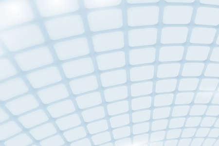 Abstract white square grid perspective pattern background. Vector Illustration