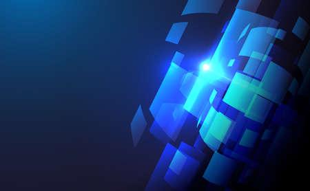 Technology digital hi tech concept. Blue abstract background. Digital big data technology. Vector illustration