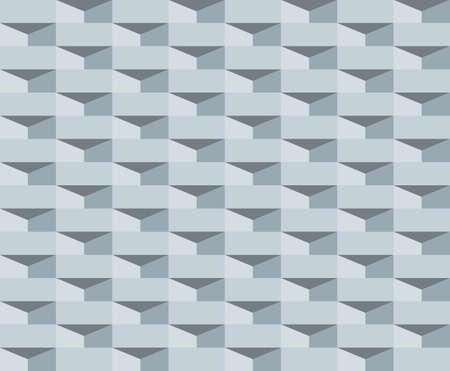 Abstract 3d minimal geometric seamless pattern background. Retro style vector illustration