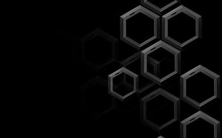 3d Abstract hexagon pattern technology digital hi tech with light rays background. Vector illustration