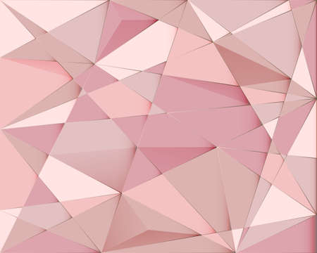 Abstract polygon geometric and triangle background. Abstract pink and gold mosaic with luxury background