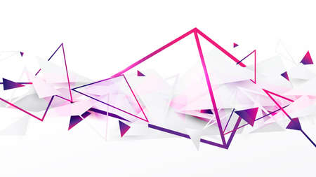 Abstract geometric background with lines and triangles dynamic effect. Futuristic technology digital hi tech concept. Vector illustration Illusztráció