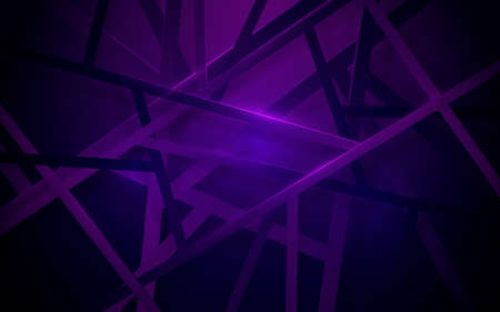 Abstract geometric lines structure overlap violet background. Vector illustration