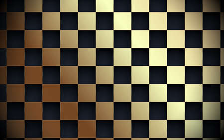 Abstract gold and black grid pattern in luxury concept background. Vector illustration Ilustração