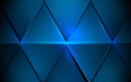 Abstract blue triangles futuristic technology digital hi-tech concept background. Vector illustration