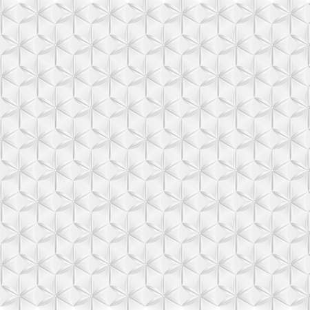 Abstract white and silver hexagon geometric pattern background. 3d vector illustration