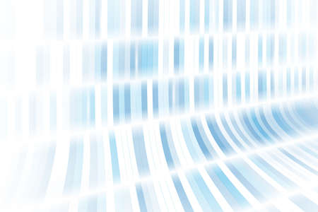 Abstract blue and white geometric rectangles repeating curve with light lines background. Vector illustration Vettoriali