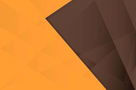 Abstract geometric repeating shape with orange and brown background. Vector illustration Vettoriali