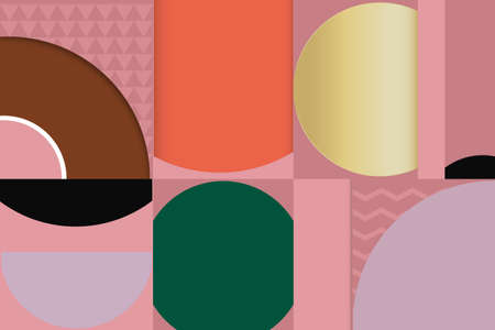 Abstract geometric minimal shape, luxury wallpaper design. Funny colorful color background. Vector illustration