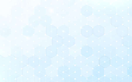 Abstract white and blue geometric hexagon with technology digital hi tech concept background. hexagon pattern. Vector illustration