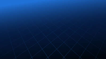 Abstract blue perspective grid line with futuristic technology digital hi tech concept background. Vector illustration