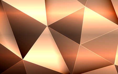 Abstract luxury 3d gold polygon background. Vector illustration