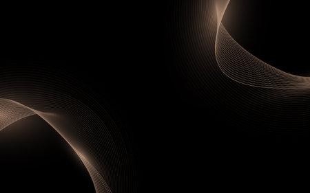 Abstract gold lines curve luxury background. Design for social media banner, poster leaflet, placard, brochure, flyer, web