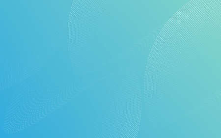 Abstract particle lines curve white on a pastel blue color background. Design for social media banner, poster leaflet, placard, brochure, flyer, web 일러스트