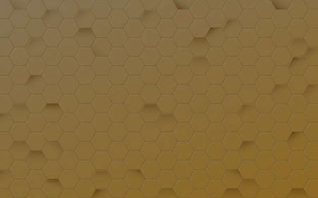 Abstract gold hexagon texture. Honeycomb background. Vector illustration