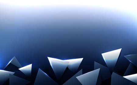 Abstract blue and silver polygonal pattern background. Vector illustration