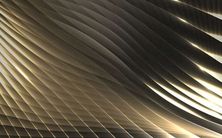 abstract gold geometric stripe waves pattern background. Vector illustration 일러스트