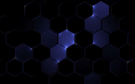 Abstract hexagon geometric design background. Futuristic technology concept. Vector illustration