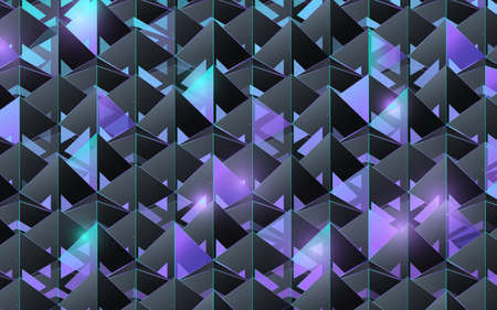 Abstract 3d pyramid structure pattern. Futuristic and technology concept background. Vector illustration