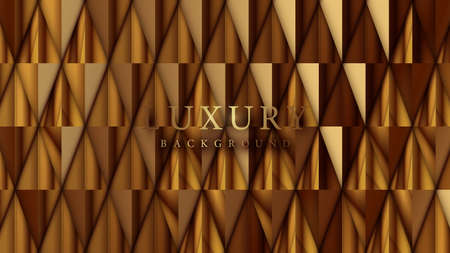 Shining golden polygon repeating pattern background. Luxury background. Vector illustration