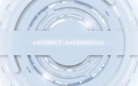Abstract white circle geometric technology digital hi tech concept background. Vector illustration