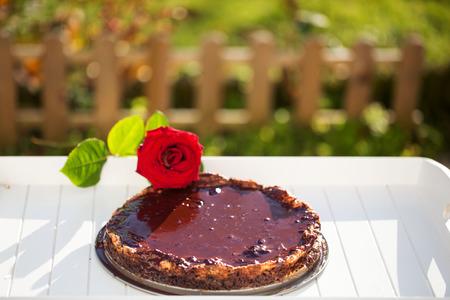 tarde de cafe: pastel de chocolate