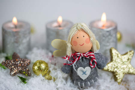 Angel with Candel and stars