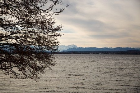 starnberger see: Starnberger lake in automn - bavaria, germany Stock Photo