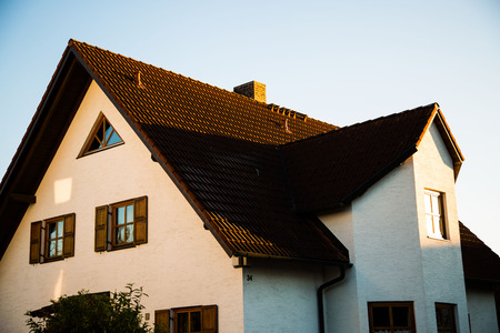 single family: Single family house in Munich, blue sky