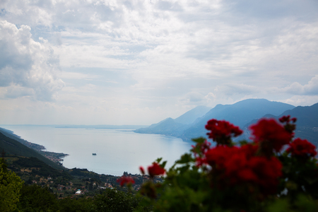 blowup: View from Monte Baldo on Malcesine